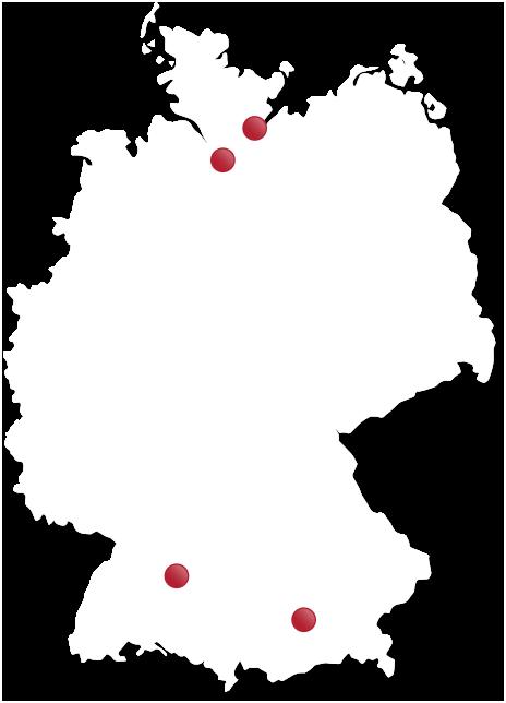 Karte Niederlassungen